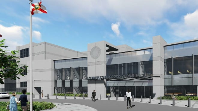 A conceptual image shows what the new Escambia County Jail facility could look like if W.G. Yates & Sons Construction Co. is selected to build the facility.