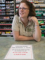 Smoker's Outlet manager Esther D'Ottavio, of West York,