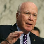 Sen. Patrick Leahy, D-Vt., speaks during a Senate Judiciary Committee hearing on April 22.