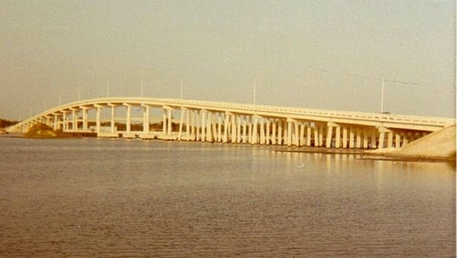 New Palm City Bridge in the early 1970s.