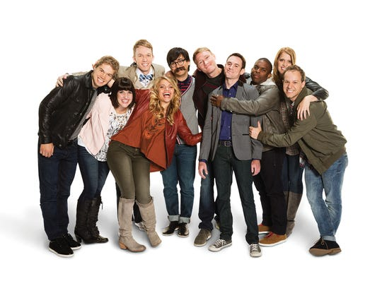 """""""Studio C"""" cast members pose for a photo."""