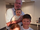 Al Morkunas with his niece Erin Mendenhall's children Cash, Everett and Mila Mendenhall during his last visit with them in Salt Lake City, Utah, July 2016.