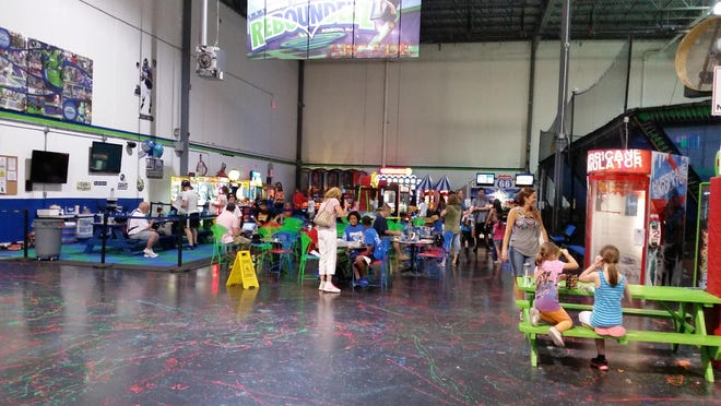 Arcade and concessions area at Rebounderz Edison