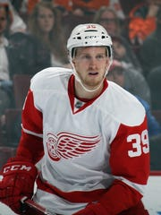 Anthony Mantha of the Detroit Red Wings skates against