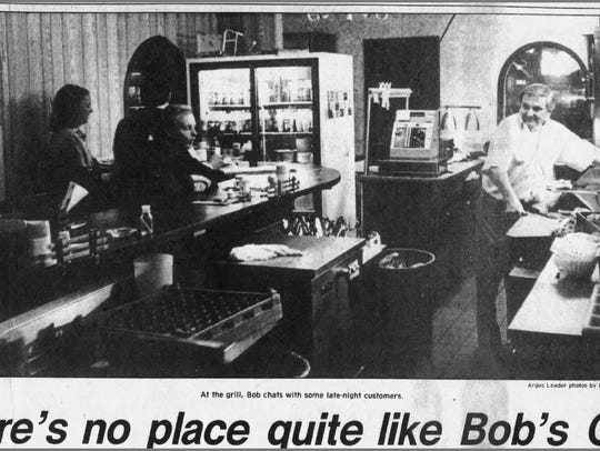 The main photo for an article on Bob's Cafe, May 14,