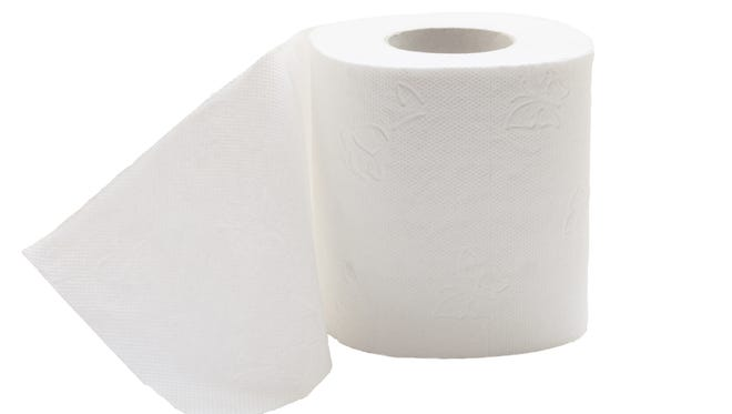 Roll of toilet paper.