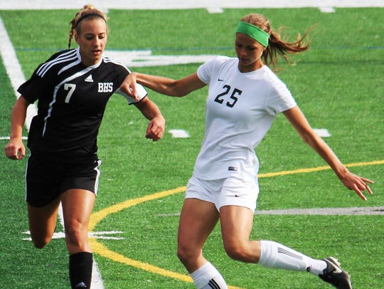 Brighton's Emma Shinsky (7) is a Colorado State recruit.