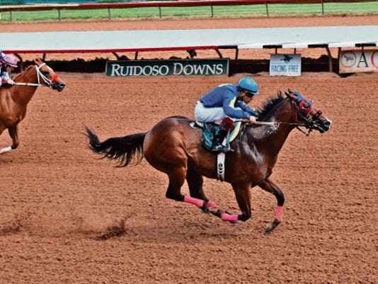 One Fabulous Eagle overwhelmed his rivals to become the day's top qualifier to the Grade 1, 3 million All American Futurity on Friday at Ruidoso Downs.
