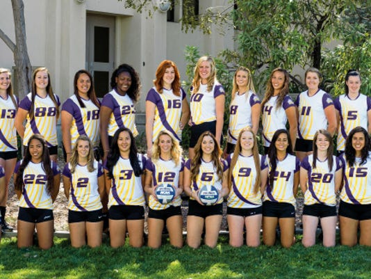 Courtesy Photo   The Western New Mexico University Mustangs women's volleyball team will practice with the Deming High Lady Wildcats from 4 to 6 p.m. today at the DHS Gymnasium. The Rocky Mountain Athletic Conference Coaches' Pre-season Poll is picking the Lady 'Stangs to finish ninth. They hope to improve on seven conference wins in 2014 and qualify for the post-season tournament. The WNMU women will practice with the 'Cats and play a scrimmage match against the varsity locals. The public is invited to attend and admission is free.