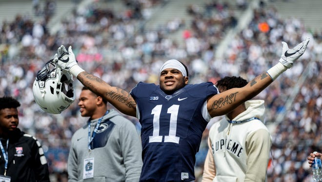 Penn State freshman linebacker Micah Parsons may be considering wrestling for the Nittany Lions. AP FILE PHOTO