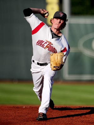 Logan Webb will pitch for the Volcanoes on Monday, July 20.