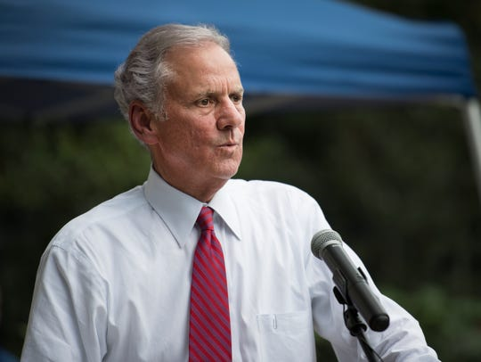 Governor Henry McMaster speaks at the Upstate Republican