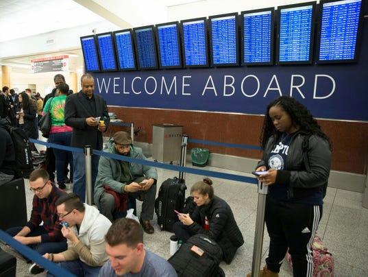 AP DELTA FLIGHTS GROUNDED A USA GA