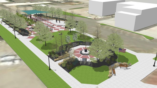 Tuesday the Augusta city council will be asked to approve a new park plan for downtown Augusta.