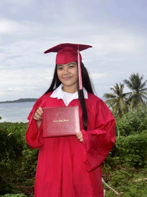 The 2018 Bank of Guam Ifit Scholarship winners received a $2,000 grant and a paid summer internship. Recipient Chloe Arnold, Xavier High School (Chuuk), Sophia University.