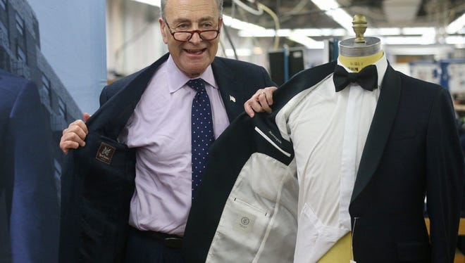 U.S. Sen. Charles Schumer helped announce a deal that Hickey Freeman will support new Trunk Club line.