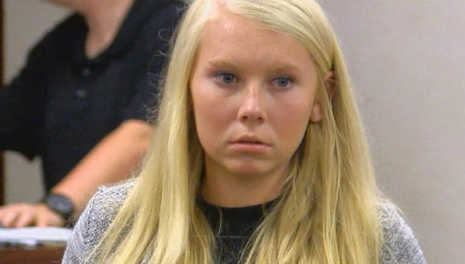 Brooke Skylar Richardson makes her first court appearance in Franklin Municipal Court in Franklin in July.