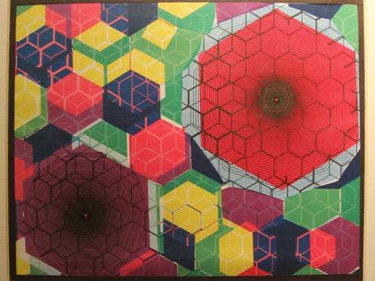 """Cubic World"" by Aliyah Tillman, Chiles High School 11th-grader"