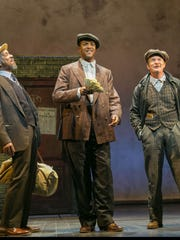 """""""The Sting"""" at Paper Mill Playhouse: L to R, Kevyn Morrow, J. Harrison Ghee, Peter Benson"""