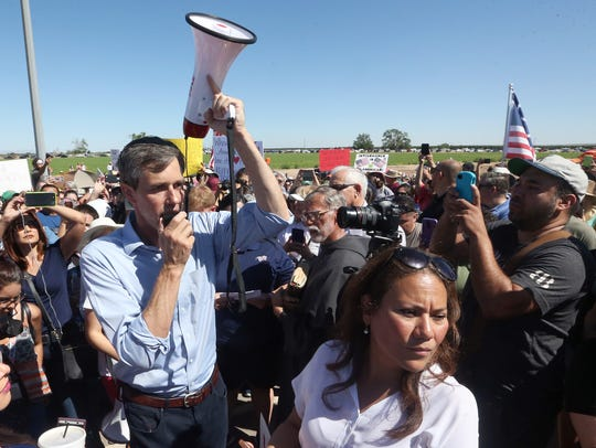 U.S. Rep. Beto O'Rourke, D-El Paso, speaks to the crowd