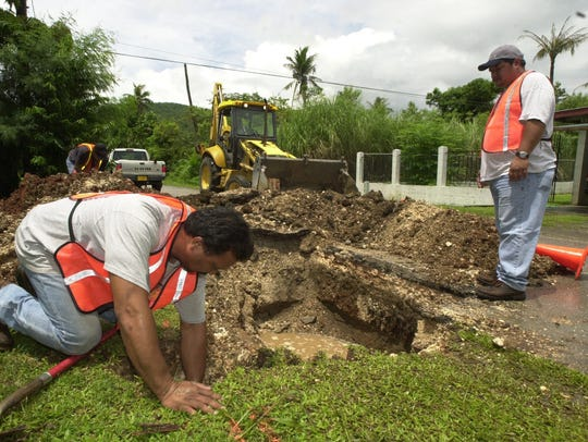 In this 2003 file photo, Guam Waterworks Authority's