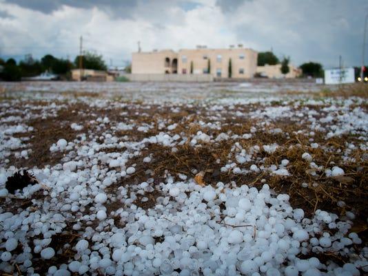 Hailstorm hits Las Cruces
