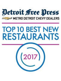 Detroit Free Press/Metro Detroit Chevy Dealders Restaurant of the Year logo.