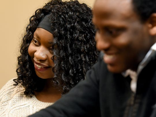 Washington High School students Tsakani Khambule (left) and Ntezeho Kiruhura are two of the first students in the district to participate in the Grow Your Own program, a new recruitment effort that administrators hope will lessen the racial divide between students and teachers in the Sioux Falls School District.