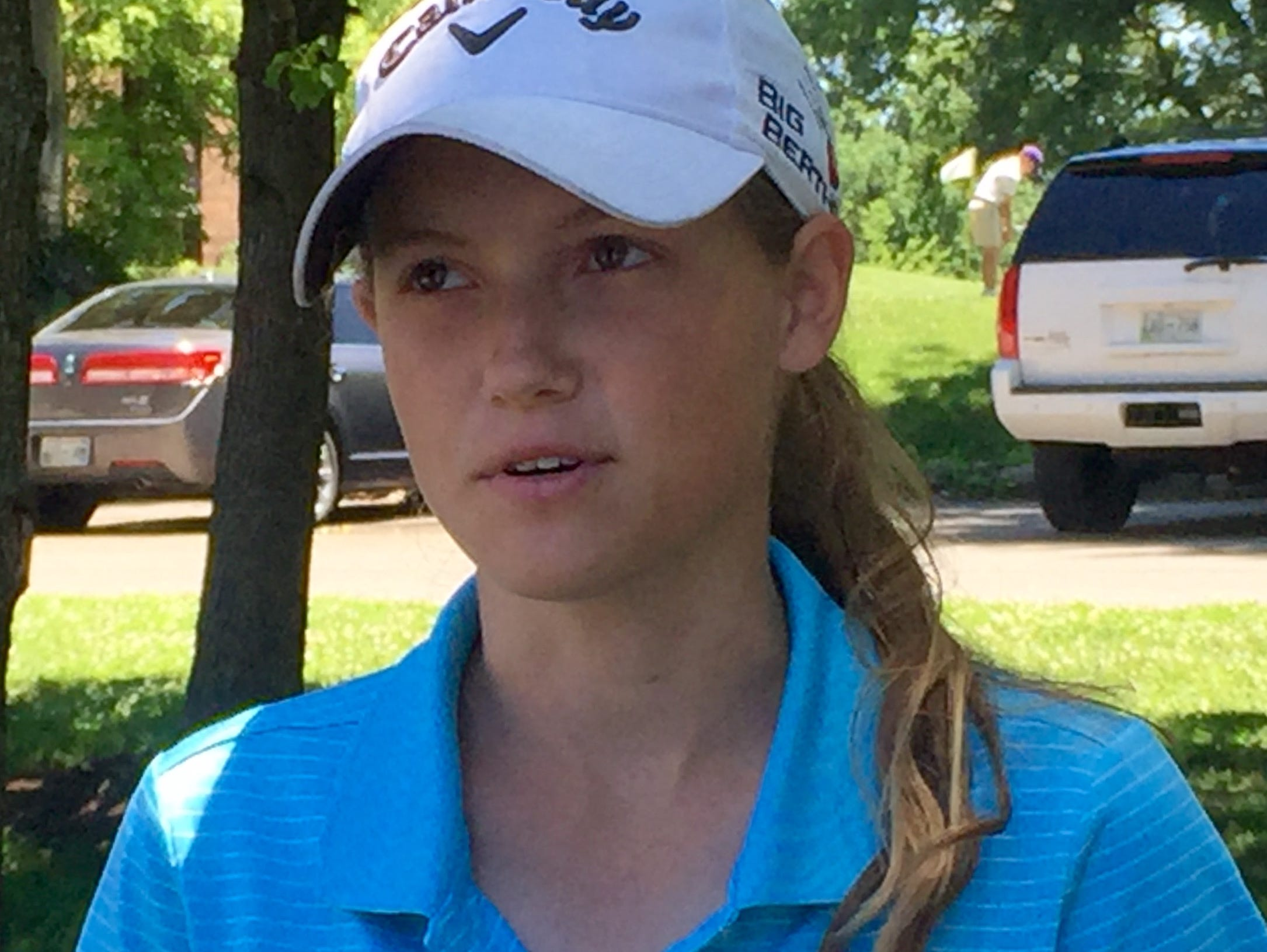 Ashley Gilliam from Manchester was the girls division medalist in The Tennessean/Metro Parks Schooldays Golf Tournament Tuesday at McCabe Course.