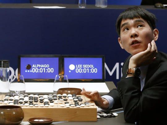 South Korean professional Go player Lee Sedol reviews