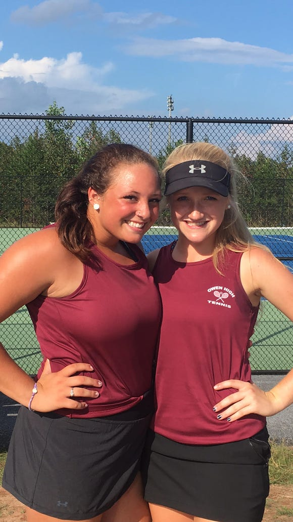 Jaiden Tweed and Ashley Valencia of Owen won the WHAC doubles title
