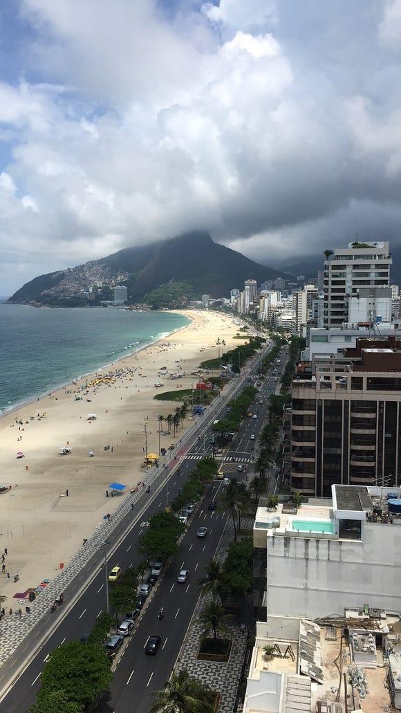 The Rio de Janeiro beach neighborhoods of Ipanema and