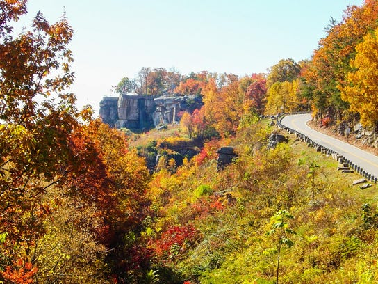 7 Rock City Gardens fall