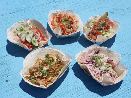 A selection of the tacos served at MOGO Korean Fusion