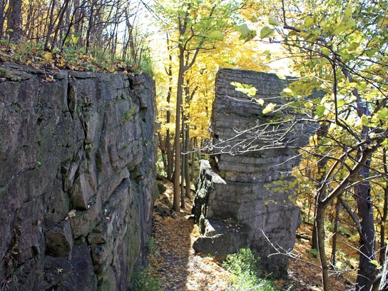 Portions of the Niagara Escarpment are visible in High