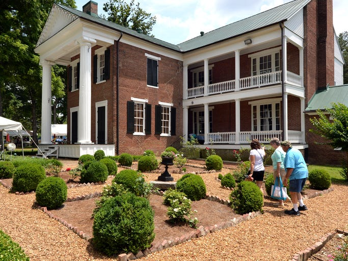 The rose garden at Rose Mont Mansion is always a visitor favorite during the Rose Mont Festival, which occured on Saturday, June 21.
