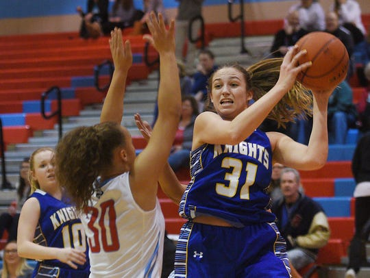 O'Gorman's Emma Ronsiek attempts to pass the ball past