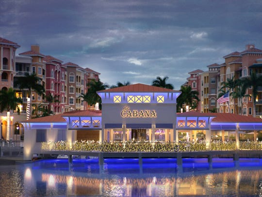 Shane's Cabana Bar on the edge of Bayfront and the Gordon River will be expanded with a restaurant and bar. This is a rendering of the proposed redevelopment in Naples.