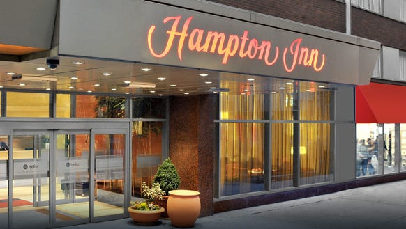 Hampton Inn is the most popular hotel brand among business