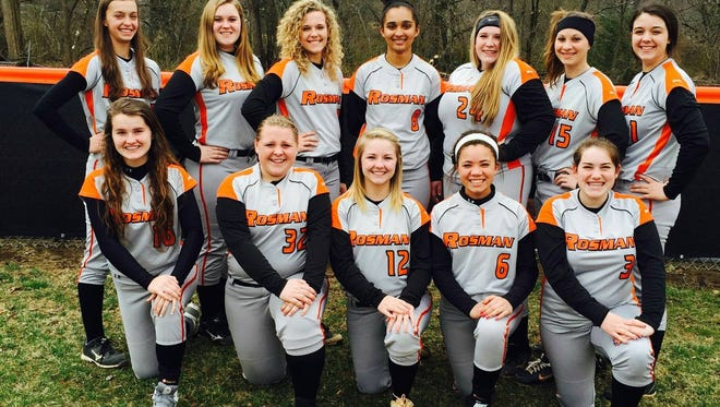 The Rosman softball team.