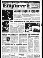Battle Creek Sports History - Week of March 30, 1987