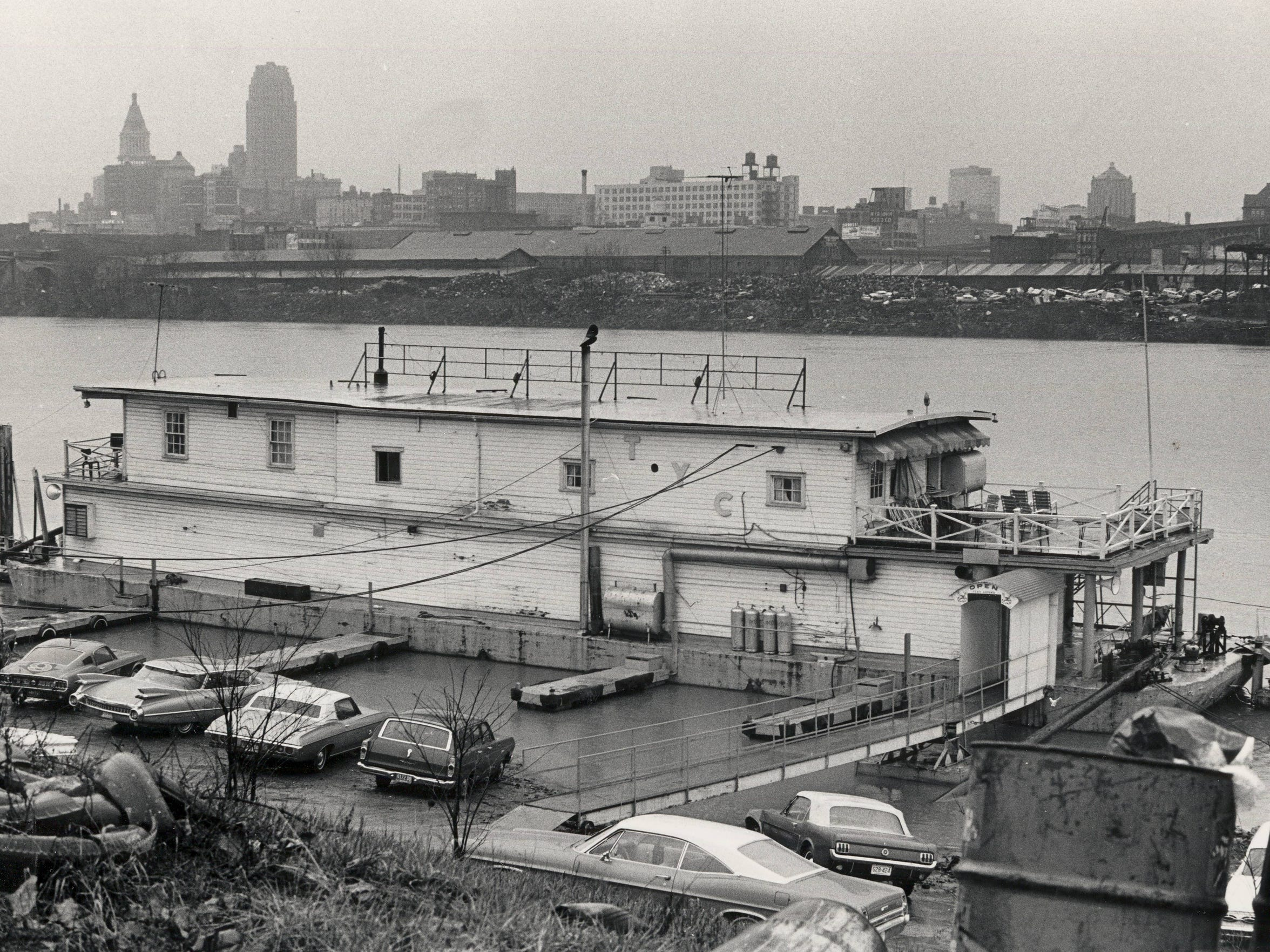 The city of Newport began trying to improve its image by taking advantage of its waterfront property by erecting yacht clubs along the shore of the Ohio River. The Tri-City Yacht Club, located at the end of Beech Street, is pictured in 1968. It stood about a mile from the Newport Yacht & Tennis Club, where Retha Welch would be killed in 1987. Enquirer file