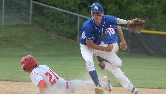 Pearl River won 11-4 in a Class A baseball outbracket game at Tappan Zee May 20, 2015.