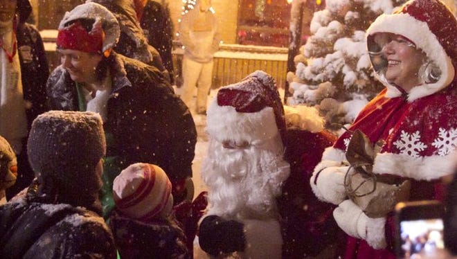 Santa and Mrs. Claus are expected to arrive at 6 p.m.