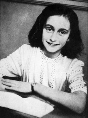 Portrait of Anne Frank who died of typhus in the Bergen-Belsen concentration camp in May 1945 at the age of 15.