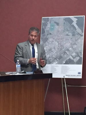 Brad Kutchins, of Kutchins & Groh, explains airfield updates of airport master plan