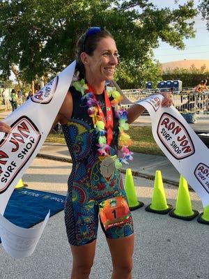 Kaitlin Donner recently won the women's division of the Ron Jon Cocoa Beach Triathlon.