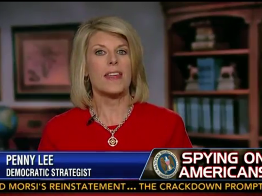 Penny Lee on Fox News in August 2013.