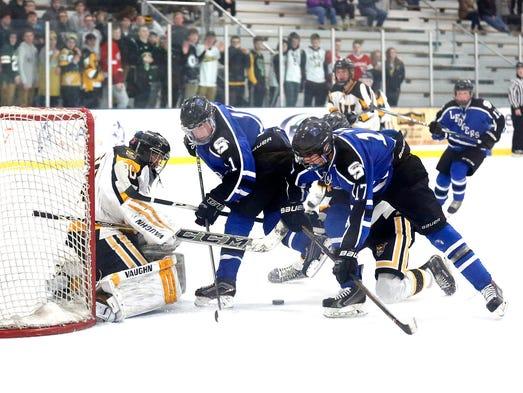 St. Mary's Springs Academy boys hockey host Waupun
