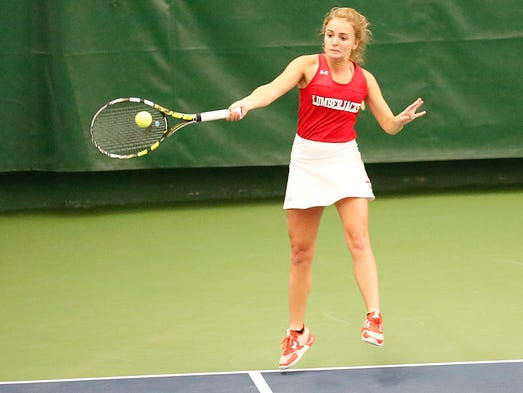 Wausau East High School's Sami Miles competes against